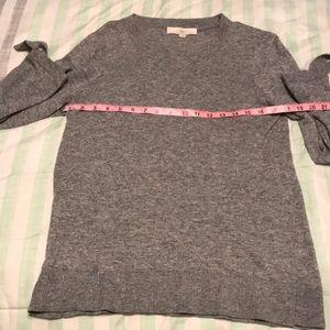 Size M grey scoop neck LOFT sweater.